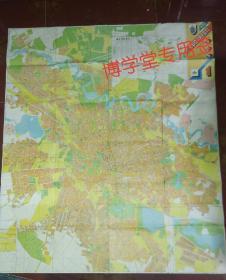 地图 1992 BUCURESTI布加勒斯特