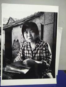 8沂蒙山区孤儿调查原创黑白照。大尺寸。作者。中国摄影协会会员。王守卫