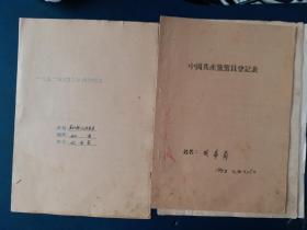 中国共产党党员登记表(50年代)及其他表格