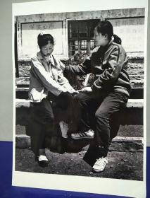 11沂蒙山区孤儿调查原创黑白照。大尺寸。作者。中国摄影协会会员。王守卫
