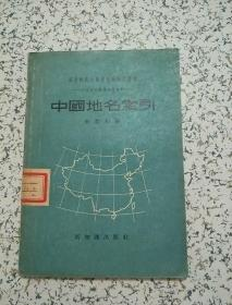 中国地名索引,