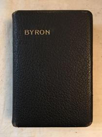 THE POETICAL WORKS LORD BYRON(皮面精装,OXFORD 1909年,924页)