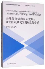 新书--21世纪贸易投资新议题系列读物:全球价值链和国际发展·理论框架、研究发现和政策分析