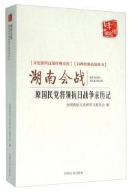 湖南会战:原国民党将领抗日战争亲历记