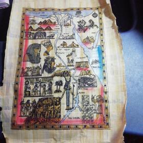 埃及原产特色天然纸——莎草纸画(世界上最古老的纸画)在埃及制作莎草纸画的每一个步骤都不会变过,并且只有以尼罗河两岸采摘的纸莎草为原料严格按照与古埃及完全相同的程序,手工制作成莎草纸,在传统的画师用纸莎草笔精心绘制才能得以生存成。