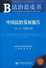 法治蓝皮书:中国法治发展报告No.12