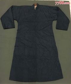灰鼠皮旗装(男式长袍)