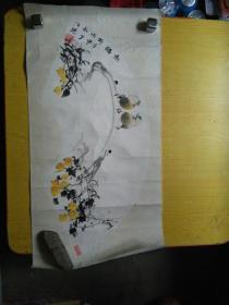 著名花鸟画家汪琼画作一幅