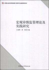 宏观审慎监管理论及实践研究