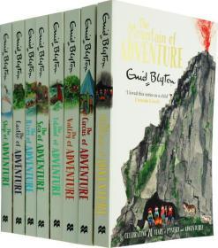 英文原版 Enid Blyton The Adventure Series冒險系列8冊合售 小說讀物