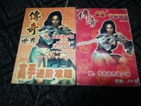 《传奇世界》攻略书两本合售