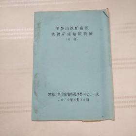 羊鼻山铁矿南区铁钨矿床地质特征(初稿)附一张图纸.