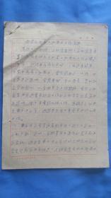 1960年山西省 西洛第七批肃反工作简报  手写  6页