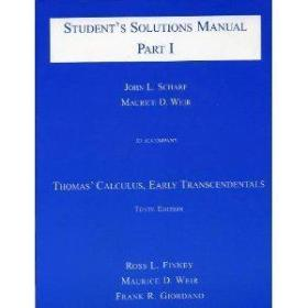 Students Solutions Manual: To Accompany Thomas Calculus: Early Transcendentals  10th Edition (pt.