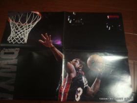 篮球海报收藏  NBA时空 大海报 二拼接 德怀恩.韦德