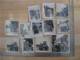 老照片---1976年泰安市岱庙合影12张合售