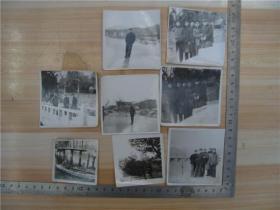 老照片--七十年代泰安市虎山水库合影,8张合售