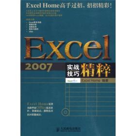 Excel2007实战技巧精粹 ExcelHome 人民邮电出版社 978711521