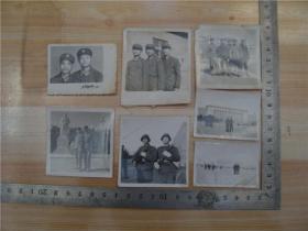 老照片--七十年代战友合影,7张合售