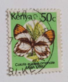 外国邮票(肯尼亚信销邮票1枚)