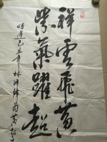 中国书法家协会理事,著名书法家,中国国礼特供十大杰出艺术家:林泽峰书法一幅(包真)