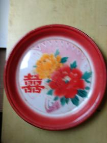 90年代搪瓷盘子(三胜老牌 直径35.5CM)