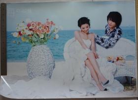 大型彩色照片--海的心情帅哥与美女9张不同 照片高44厘米长62厘米 85品相