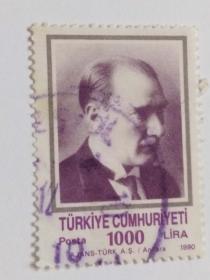 外国邮票(人物信销邮票1枚)