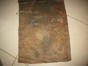 出土;清代官服[绣片]一个。品如图。尺寸约34/27厘米