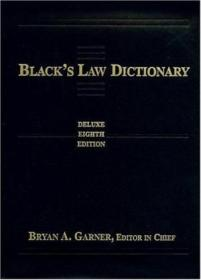 Blacks Law Dictionary: Deluxe Thumb-index