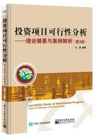 投资项目可行性分析――理论精要与案例解析(第3版)9787121326714