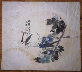 老旧可以乱真的木版水印画:晚清画家花鸟画