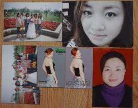美女彩色照片6张(其中15厘米*10厘米1张;12.5厘米*8.5厘米3张;9厘米*6厘米2张 ) 原物拍照
