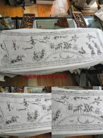汉画像砖之杰作,平索戏车图,拓片,原砖原拓河南省博物院有一同类藏砖,