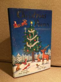 Christmas Poems(加比·摩根编《圣诞诗选》,Axel Scheffler彩色插图,,名家名作,漂亮的精装本)