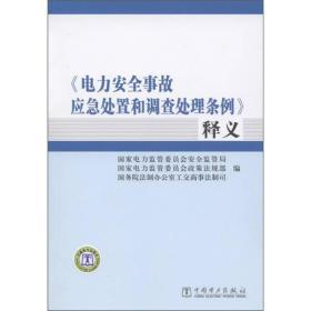 《电力安全事故应急处置和调查处理条例》释义