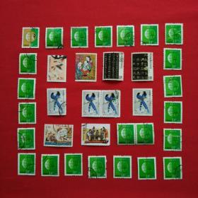 2008-13曹冲称象2007-14让梨1996-30天津民间彩塑2007-30书法邮票