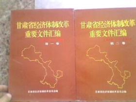 甘肃省经济体制改革重要文件汇编第一卷1979-1991第二卷1979-1991  软精装16开865页