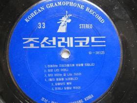 原版朝鲜唱片   12  有塑料外套