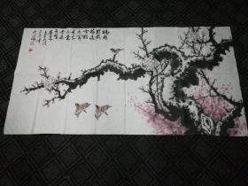 国画:梅花图(何大海画)134*68cm