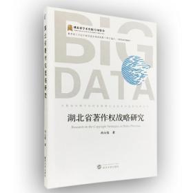 湖北省著作权战略研究武汉大学冉从敬9787307170254