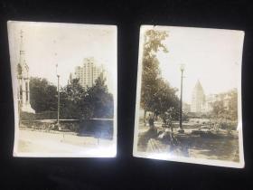 【铁牍精舍】【上海影像资料】民国上海银盐照两张,10x8cm