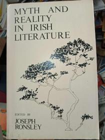 珍藏图书 外文原版 正版现货  MYTH AND REALITY IN IRISH LITERATURE 爱尔兰文学中的神话与现实