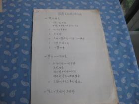 张载良教授(关于英语口译的)授课提纲【16开单面复印件】