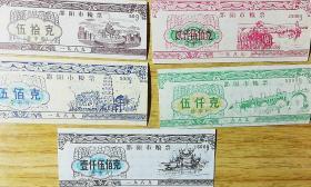 1989年湖南省邵阳市粮票五全