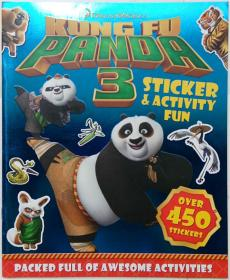 Kung Fu Panda 3 Sticker & Activity Fun Paperback  功夫熊猫3贴纸&活动乐趣 平装书