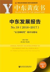 皮书系列·中东黄皮书:中东发展报告 No.19(2016-2017)