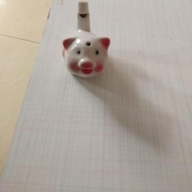 吉祥瓷器小猪    哨子