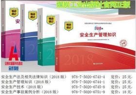 全国注册安全工程师执业资格考试考点速记 2018版 共4册