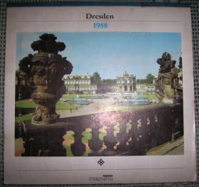 德国 Dresden(德累斯顿)风景名胜日历册(1988年,德文原版)
